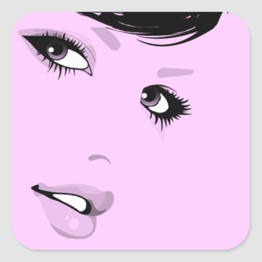 Beautiful Lady Sticker