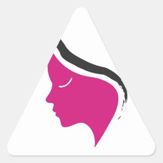 beautiful lady triangle sticker