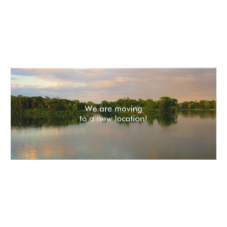 Beautiful Lake at Sunset Rack Card