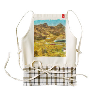 Beautiful lake in Switzerland Zazzle HEART Apron