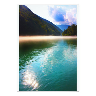 Beautiful lake in the Alps, Slovenia Card