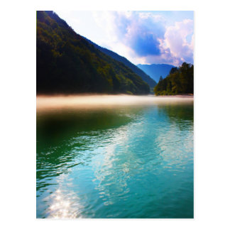 Beautiful lake in the Alps, Slovenia Postcard