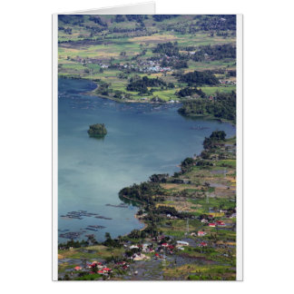 Beautiful Lake Maninjau caldera lake West Sumatra Card