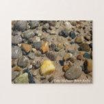 Beautiful Lake Michigan Beach Rocks Picture Puzzle
