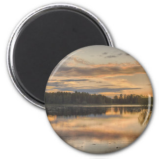Beautiful lake sunset magnet