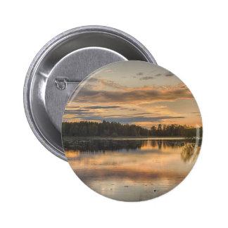 Beautiful lake sunset pinback button