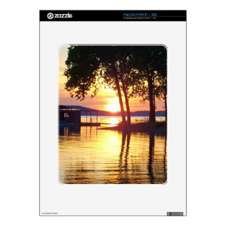 Beautiful Lake Sunset Water Reflection Photography Decal For iPad