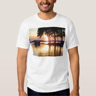 Beautiful Lake Sunset Water Reflection Photography T-Shirt