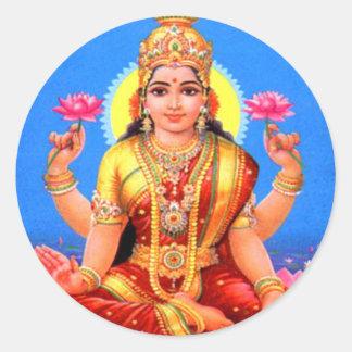 Beautiful Lakshmi Classic Round Sticker
