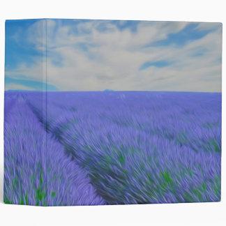 Beautiful landscape of lavender fields binder
