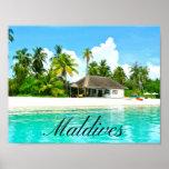 Beautiful Landscape Of Maldives Poster