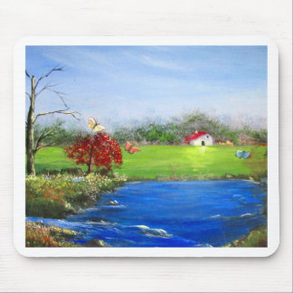 Beautiful landscape painting mouse pad