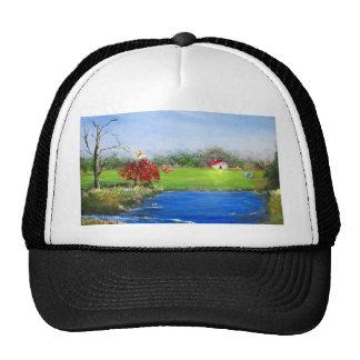 Beautiful landscape painting trucker hat