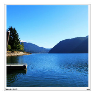 beautiful landscape photography of blue sky, lake, wall decal
