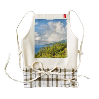 Beautiful landscape zazzle HEART apron