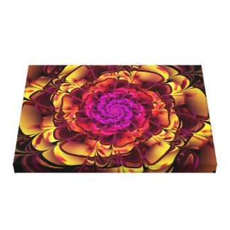 Beautiful Lantana Camara Sunrise Fractal Flowers Canvas Print