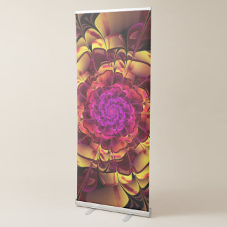 Beautiful Lantana Camara Sunrise Fractal Flowers Retractable Banner