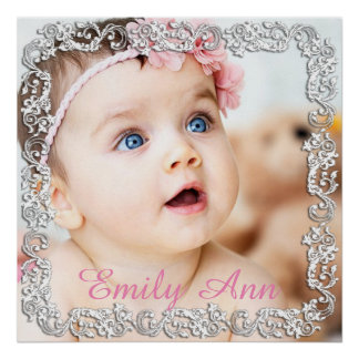 Beautiful Large Photo Poster with Script Border