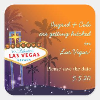 Beautiful Las Vegas Wedding Save the Date Stickers
