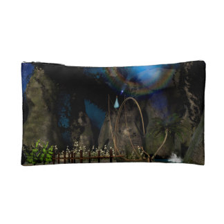 Beautiful latern boat at the jetty at night cosmetic bags
