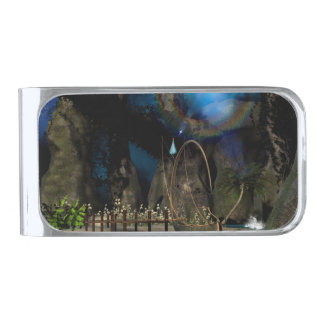 Beautiful latern boat at the jetty at night money clip