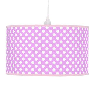 Beautiful Lavander Color Polka Dot Pattern Hanging Lamp