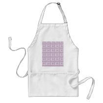 Beautiful Lavender and White Greek Key Pattern Adult Apron