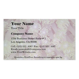 Beautiful Lavender coral polyps from the Red Sea Double-Sided Standard Business Cards (Pack Of 100)
