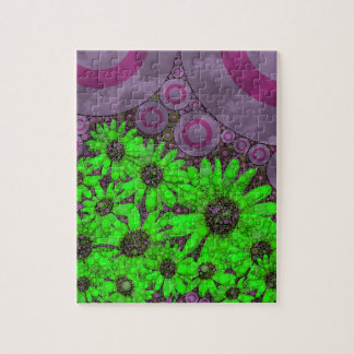 Beautiful Lavender Florescent Sunflowers Jigsaw Puzzle