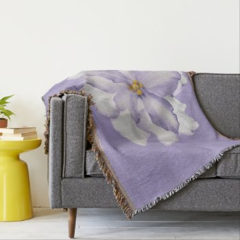 Beautiful Lavender Orchid Throw Blanket