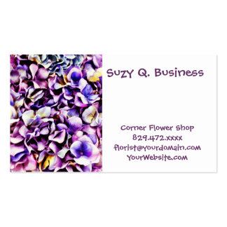 Beautiful Lavender Purple Hydrangea Flower Petals Double-Sided Standard Business Cards (Pack Of 100)