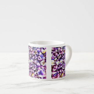Beautiful Lavender Purple Hydrangea Flower Petals Espresso Cup