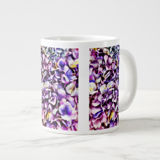 Beautiful Lavender Purple Hydrangea Flower Petals Giant Coffee Mug