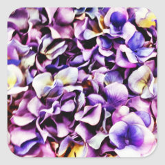 Beautiful Lavender Purple Hydrangea Flower Petals Sticker