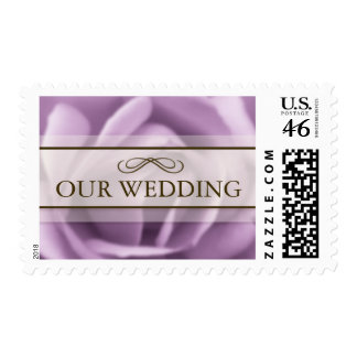 Beautiful Lavender Rose Our Wedding Postage