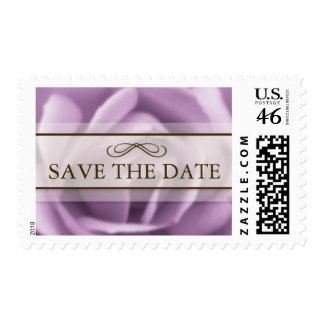 Beautiful Lavender Rose Save The Date Postage