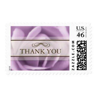 Beautiful Lavender Rose Thank You Postage