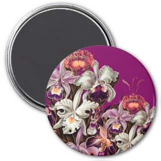 Beautiful Lavender Vintage Flowers 3 Inch Round Magnet