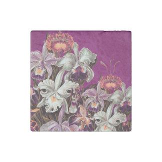Beautiful Lavender Vintage Flowers Stone Magnet