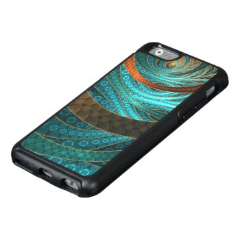 Beautiful Leather & Blue Turquoise Fractal Jewelry Otterbox Iphone 6/6s Case by Fractalscapes at Zazzle