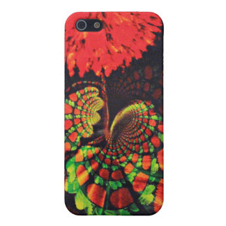 Beautiful Leaves and a Red Flower iPhone SE/5/5s Case