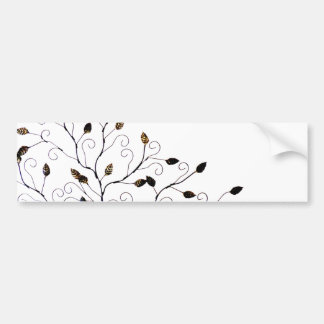 Beautiful Leaves on Tree Photo Design Car Bumper Sticker