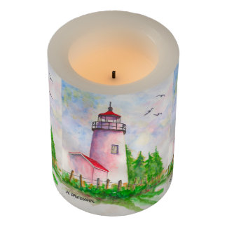 Beautiful Led Candles - Lighthouse Art - Gifts