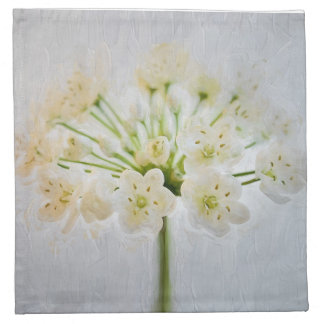 Beautiful Leek Flower Painting Napkin