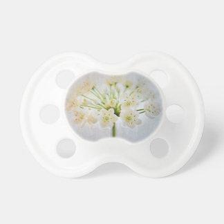 Beautiful Leek Flower Painting Pacifier