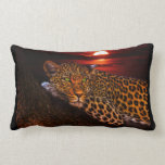 Beautiful leopard graphic pillow