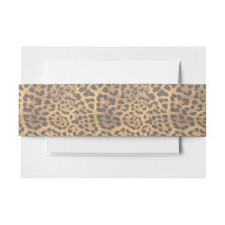 Beautiful Leopard Print Invitation Belly Band