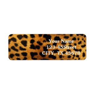 Beautiful Leopard Print Custom Return Address Label