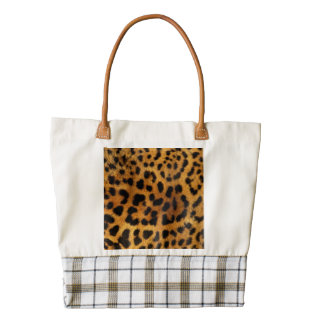 Beautiful Leopard Print Zazzle HEART Tote Bag