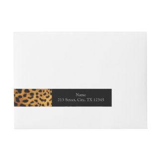 Beautiful Leopard Print Wraparound Address Label